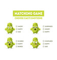 matching game hedgehog wild boar wolf fox vector image vector image