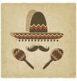 Mexican sombrero old background vector image vector image