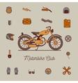 motorcycle icon vector image vector image