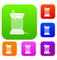 needle and thread set collection vector image vector image