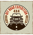 off road expedition colored emblem vector image