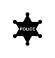 Police star icon vector image vector image