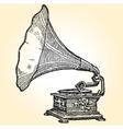 retro gramophone vector image