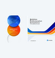 set business orange blue design of abstract vector image