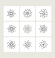 set of minimal geometric monochrome symbol set vector image
