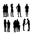 Set of Silhouette People vector image