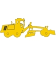Silhouette of a heavy road grader