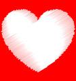 single sketchy doodle scribble heart graphic vector image vector image