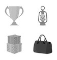 sport history leisure and other monochrome icon vector image vector image