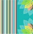 stylized leaf pattern vector image vector image