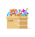 toy box donate toys charity kids support vector image