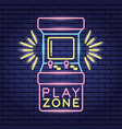 video game neon vector image vector image