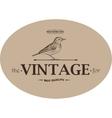 Vintage Template Emblem vector image