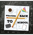 Welcome Back to School Mockup White vector image