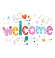 welcome decorative type lettering text design vector image vector image