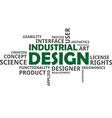 word cloud industrial design vector image