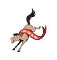 Year of Horse 2014 Jumping Cartoon vector image