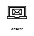 answer line icon vector image