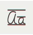 Cursive letter a thin line icon vector image