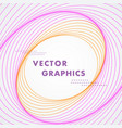 abstract circles lines pattern design vector image vector image