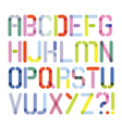 abstract font with points vector image