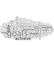 advice to help people to attain their goals in vector image vector image