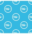 Age restriction sign blue pattern vector image vector image