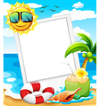 An empty frame at the beach vector image vector image