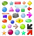 Badges tag label sticker colour set vector image vector image