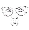 Beautiful fashion woman portrait with sunglasses vector image