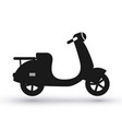 black scooter icon vector image vector image