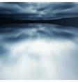 blue blur lake vector image vector image