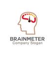 Brain Meter Design vector image vector image
