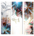 brochures set with abstract florals vector image vector image