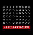 bullet holes on black vector image