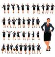 businesswoman set 3 vector image vector image