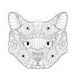 Cat coloring for adults vector image vector image