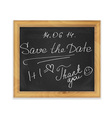 chalk board in frame vector image
