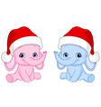 christmas baelephants vector image vector image