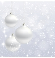 Christmas ornament background card vector image vector image