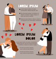 couple in love info poster vector image vector image