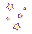 cute stars group icons vector image