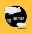 delivery concept banner contour linear style vector image vector image