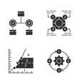 diagram concepts glyph icons set decision vector image vector image