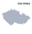 dotted map of czech republic isolated on white vector image