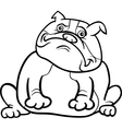 english bulldog dog cartoon for coloring book vector image