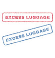 excess luggage textile stamps vector image vector image