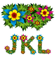 flowers alphabet 04 vector image vector image