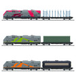 freight trains vector image vector image