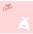 Greeting card with Easter rabbit vector image vector image